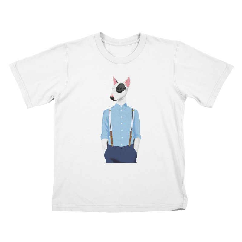 Skinhead Bull Terrier Kids T-Shirt by drawgood's Shop