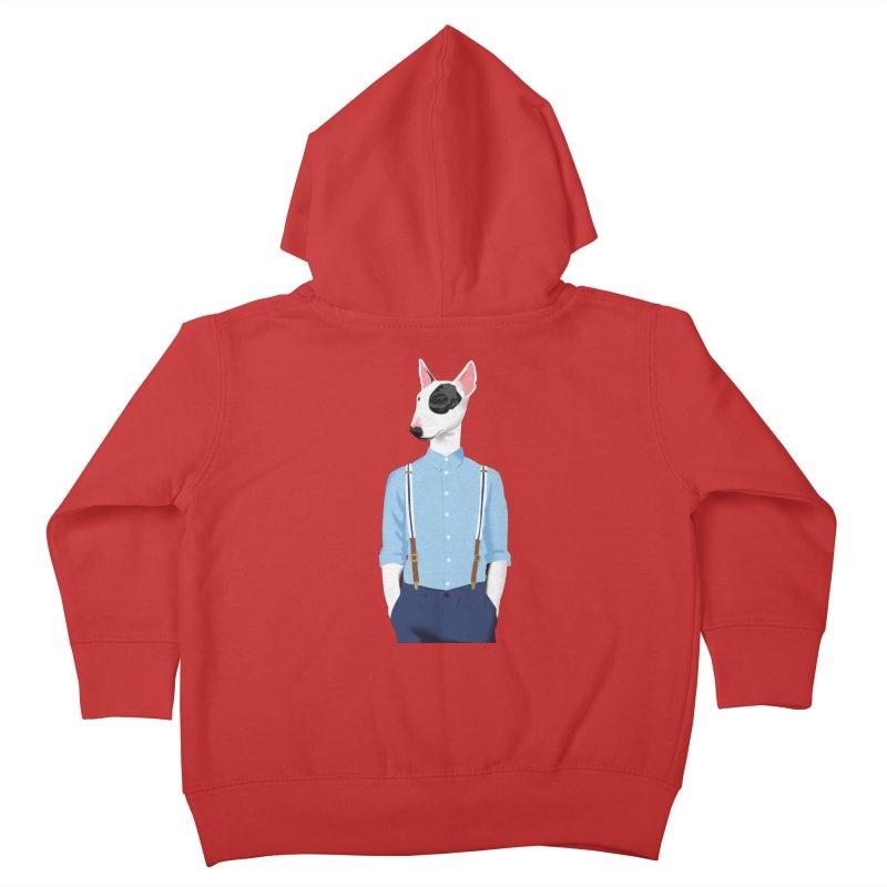 Skinhead Bull Terrier Kids Toddler Zip-Up Hoody by drawgood's Shop
