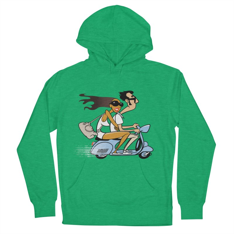 Scooter Couple Men's Pullover Hoody by Studio Drawgood
