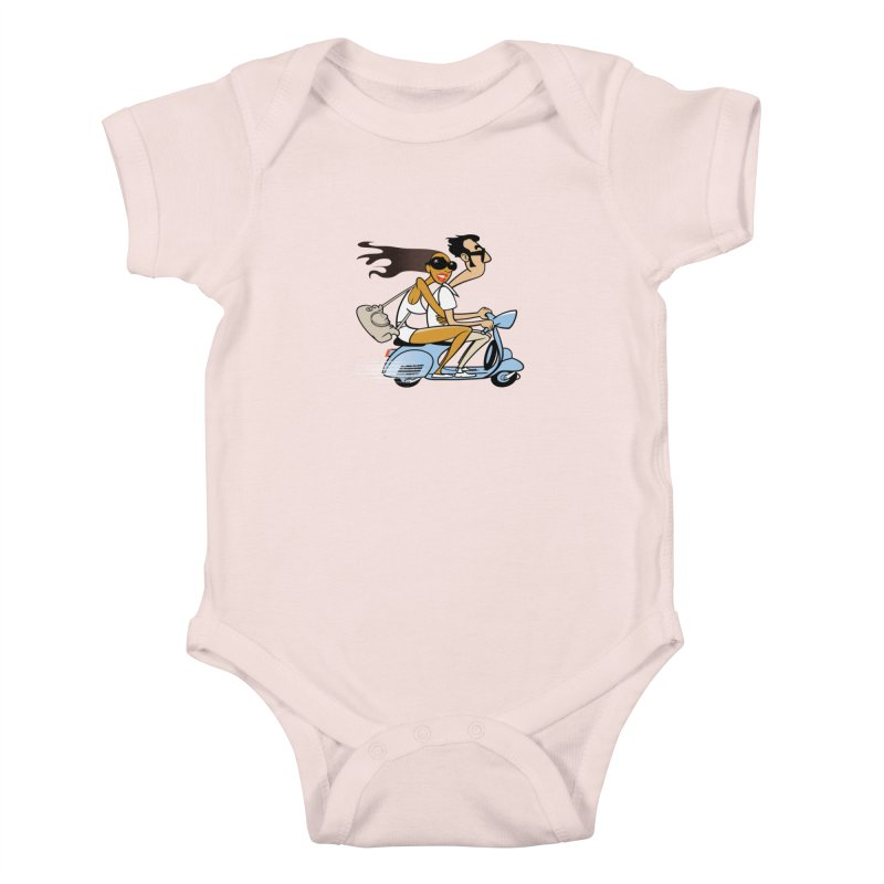 Scooter Couple Kids Baby Bodysuit by drawgood's Shop