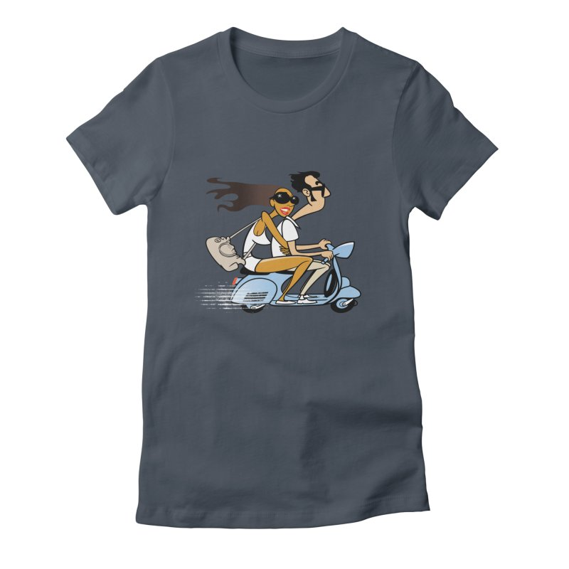Scooter Couple Women's Fitted T-Shirt by drawgood's Shop