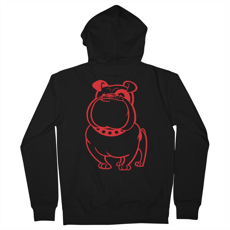 Bulldog Men's Zip-Up Hoody by drawgood's Shop