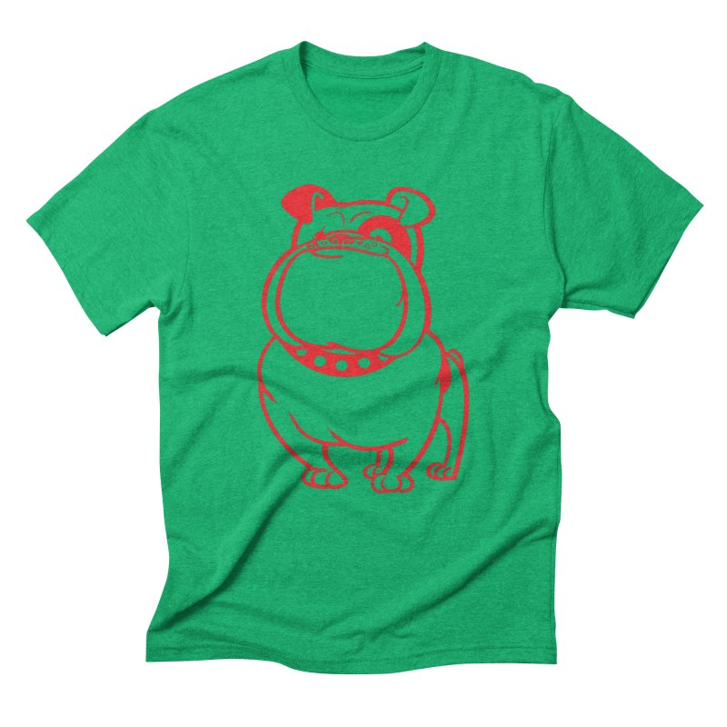 Bulldog Men's Triblend T-Shirt by drawgood's Shop
