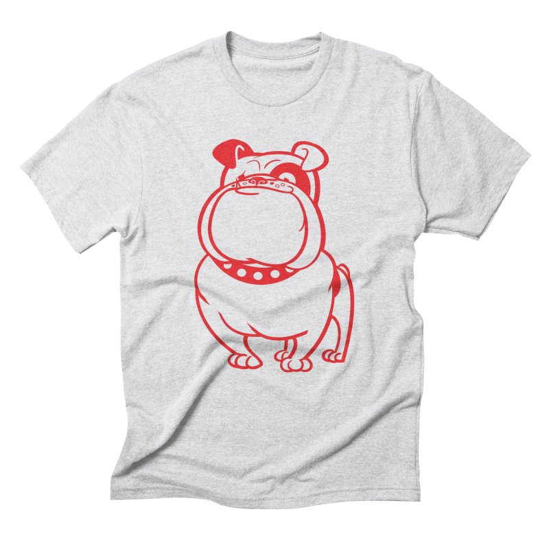 Bulldog Men's Triblend T-Shirt by Studio Drawgood