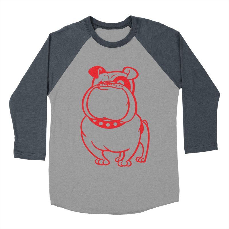 Bulldog Men's Baseball Triblend T-Shirt by drawgood's Shop