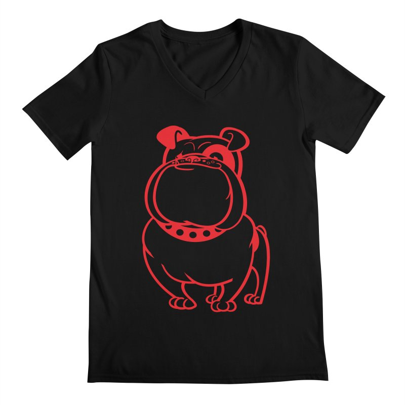 Bulldog Men's V-Neck by drawgood's Shop