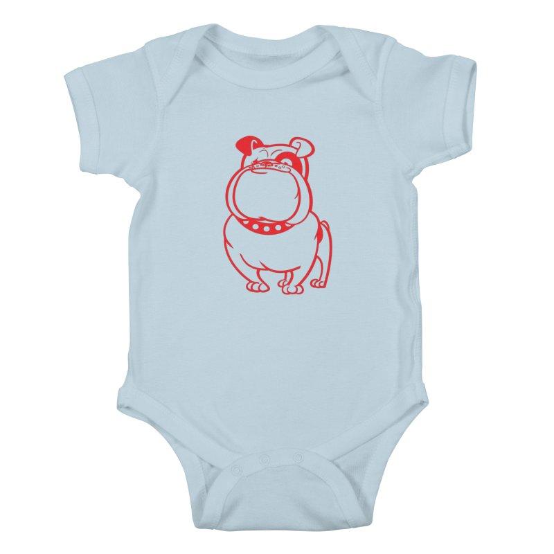 Bulldog Kids Baby Bodysuit by Studio Drawgood