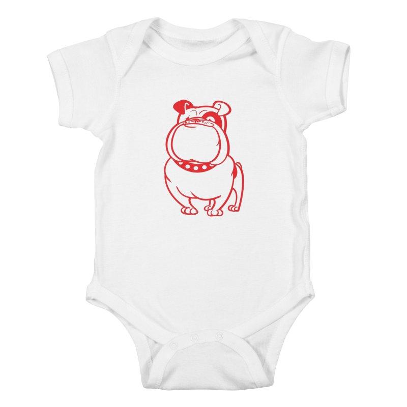 Bulldog Kids Baby Bodysuit by drawgood's Shop