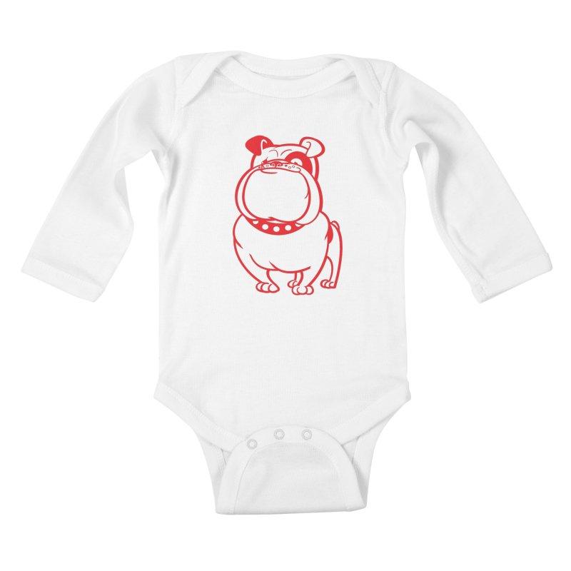 Bulldog Kids Baby Longsleeve Bodysuit by drawgood's Shop