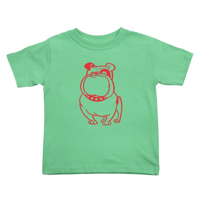 Bulldog Kids Toddler T-Shirt by drawgood's Shop