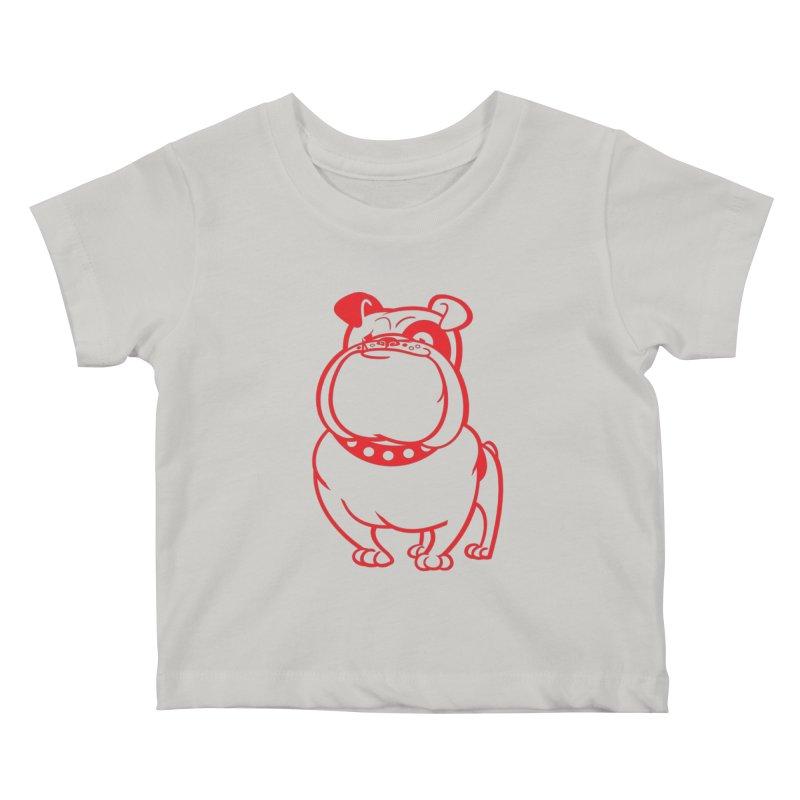 Bulldog Kids Baby T-Shirt by drawgood's Shop