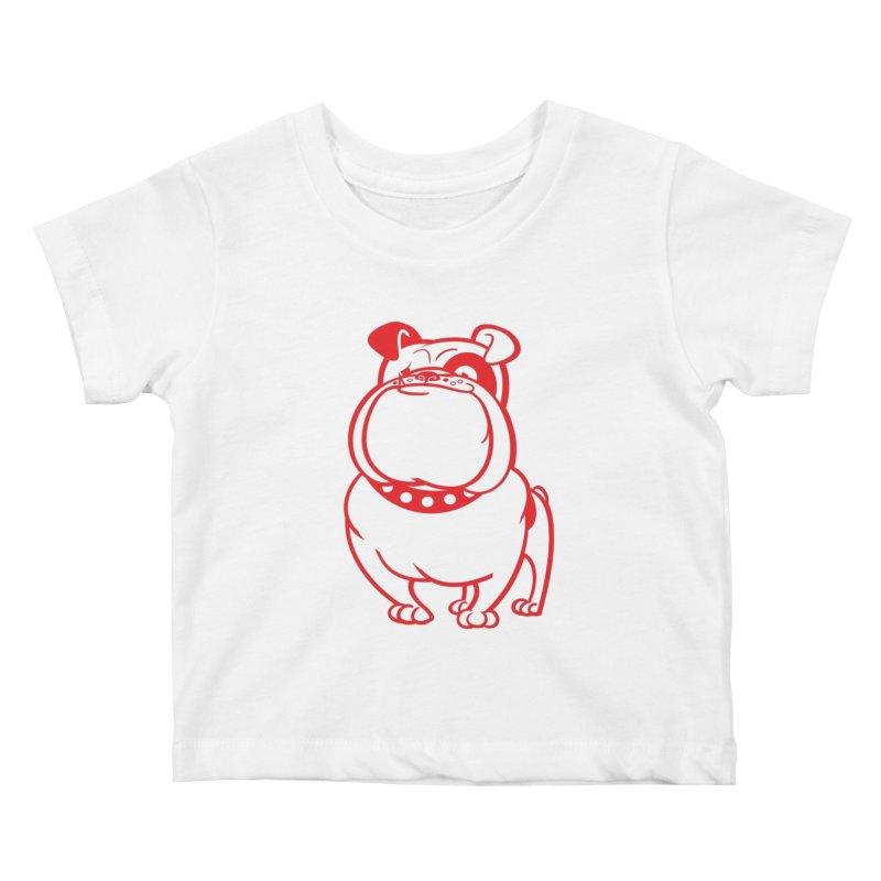 Bulldog Kids Baby T-Shirt by Studio Drawgood