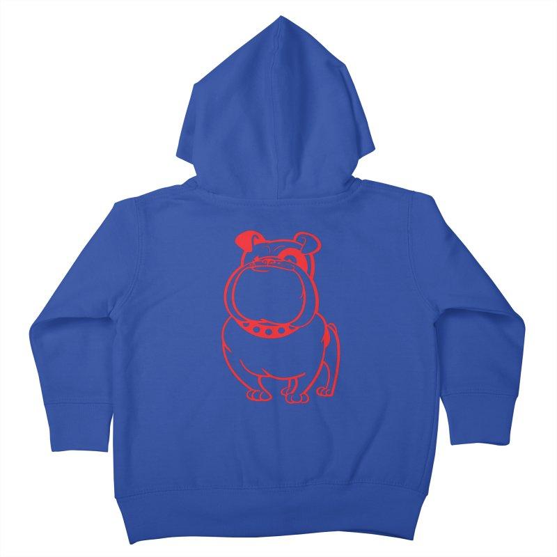 Bulldog Kids Toddler Zip-Up Hoody by Studio Drawgood