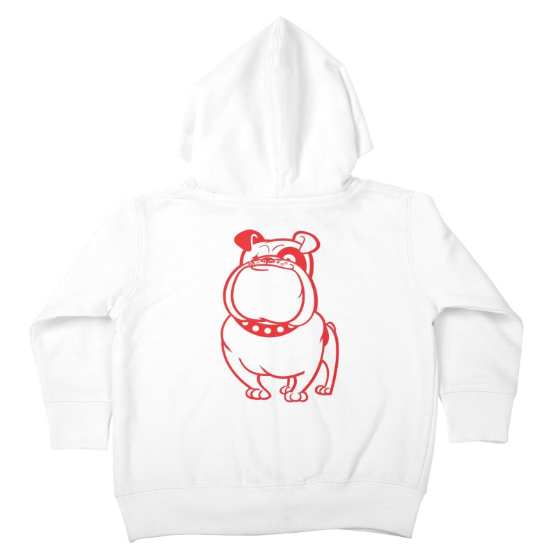 Bulldog Kids Toddler Zip-Up Hoody by drawgood's Shop
