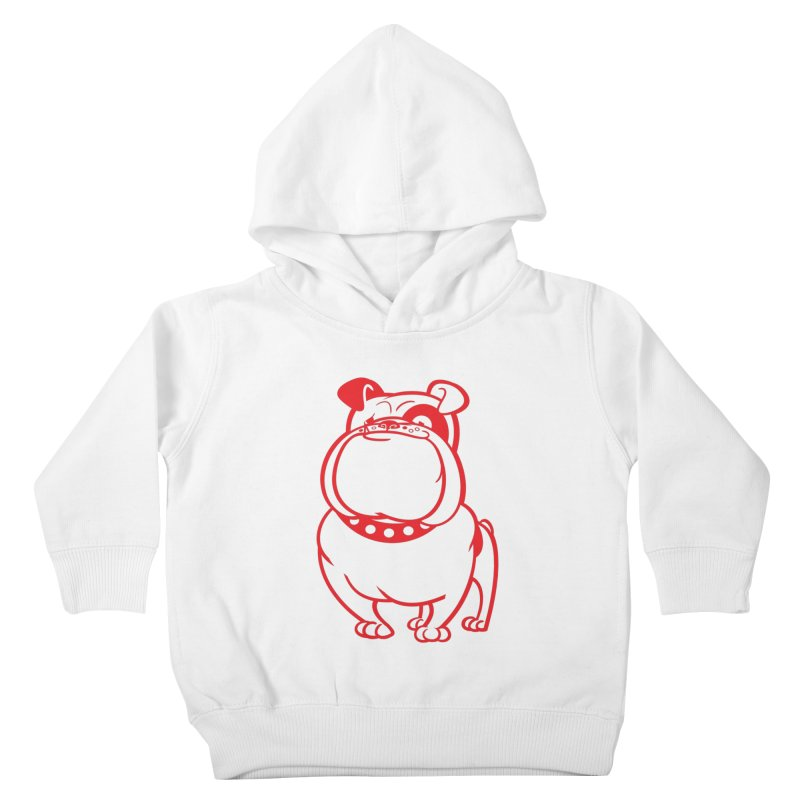 Bulldog Kids Toddler Pullover Hoody by drawgood's Shop
