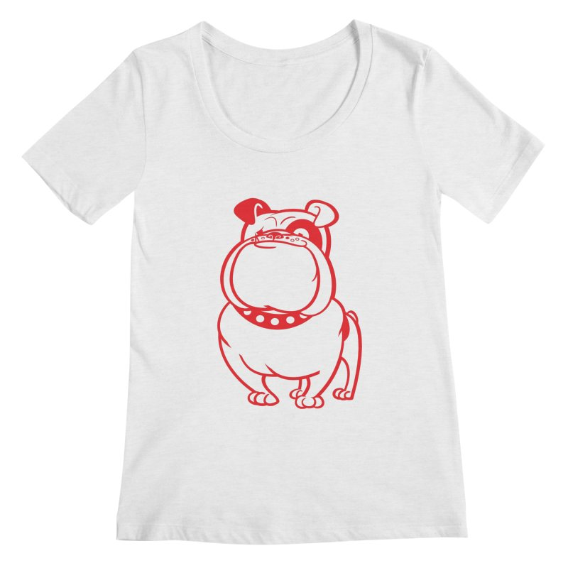 Bulldog Women's Scoopneck by drawgood's Shop