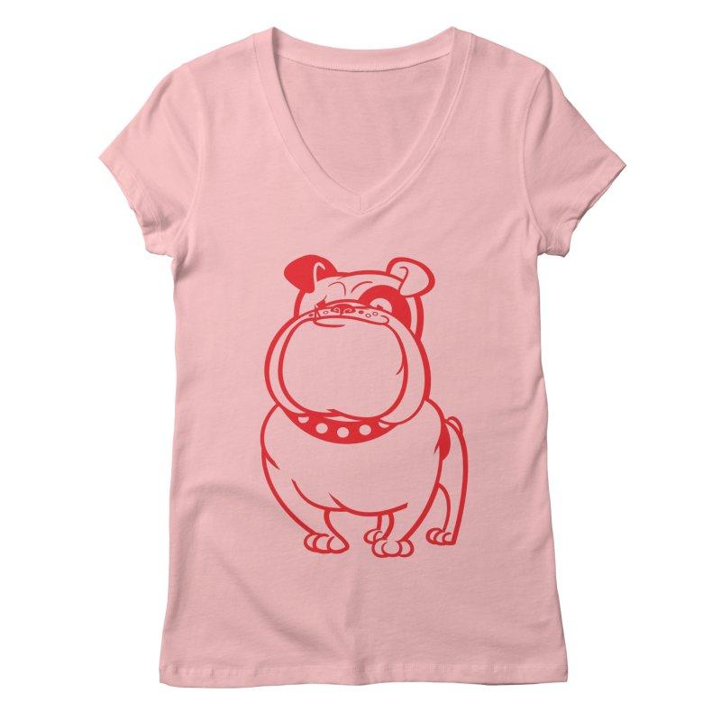 Bulldog Women's V-Neck by drawgood's Shop
