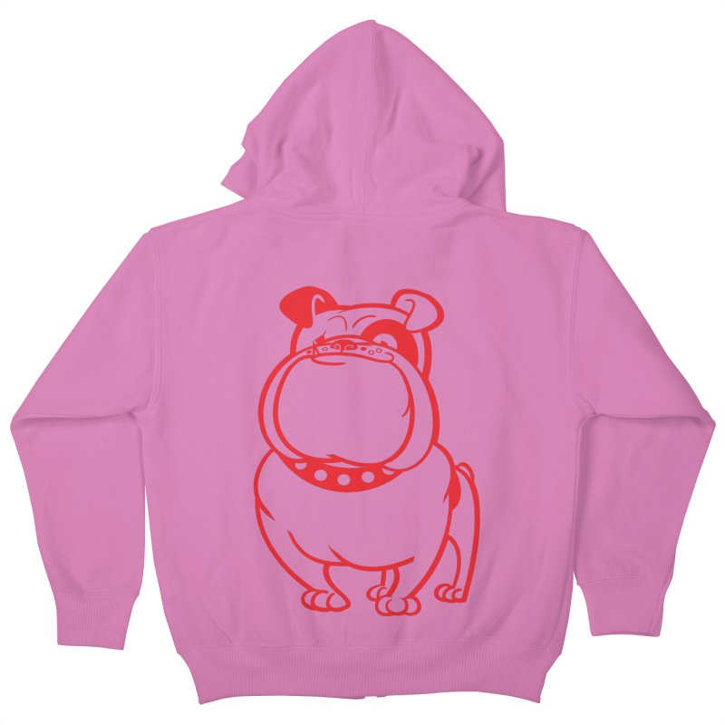 Bulldog Kids Zip-Up Hoody by drawgood's Shop