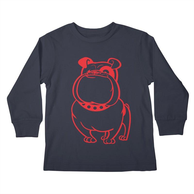 Bulldog Kids Longsleeve T-Shirt by Studio Drawgood
