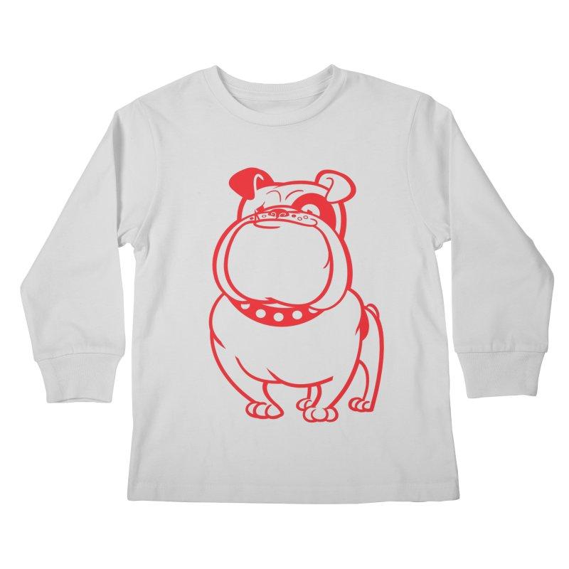 Bulldog Kids Longsleeve T-Shirt by drawgood's Shop