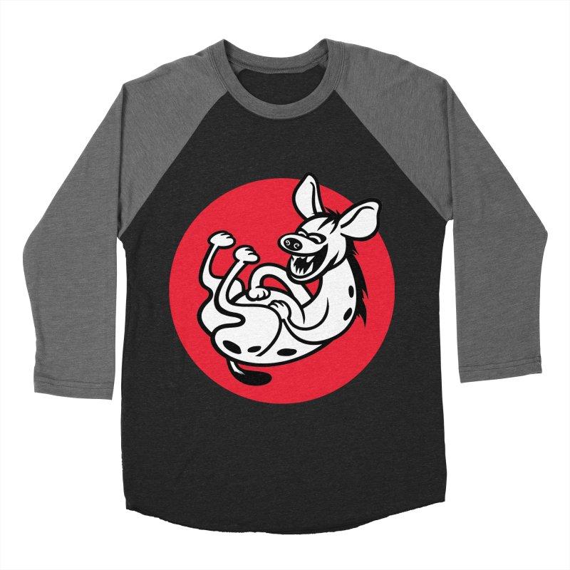 The Laughing Hyena Women's Baseball Triblend T-Shirt by Studio Drawgood