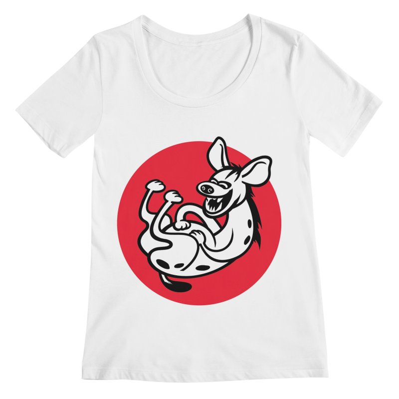 The Laughing Hyena Women's Scoopneck by Studio Drawgood