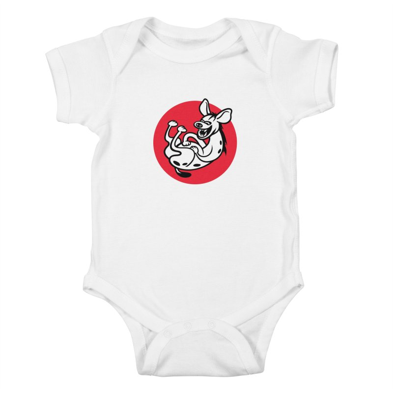 The Laughing Hyena Kids Baby Bodysuit by Studio Drawgood