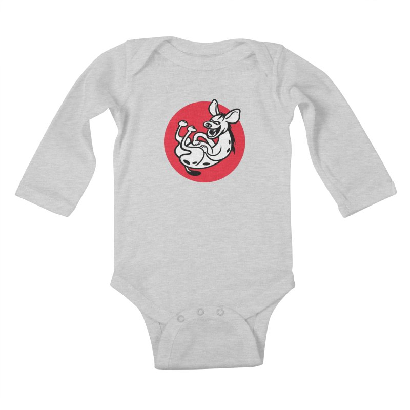 The Laughing Hyena Kids Baby Longsleeve Bodysuit by drawgood's Shop