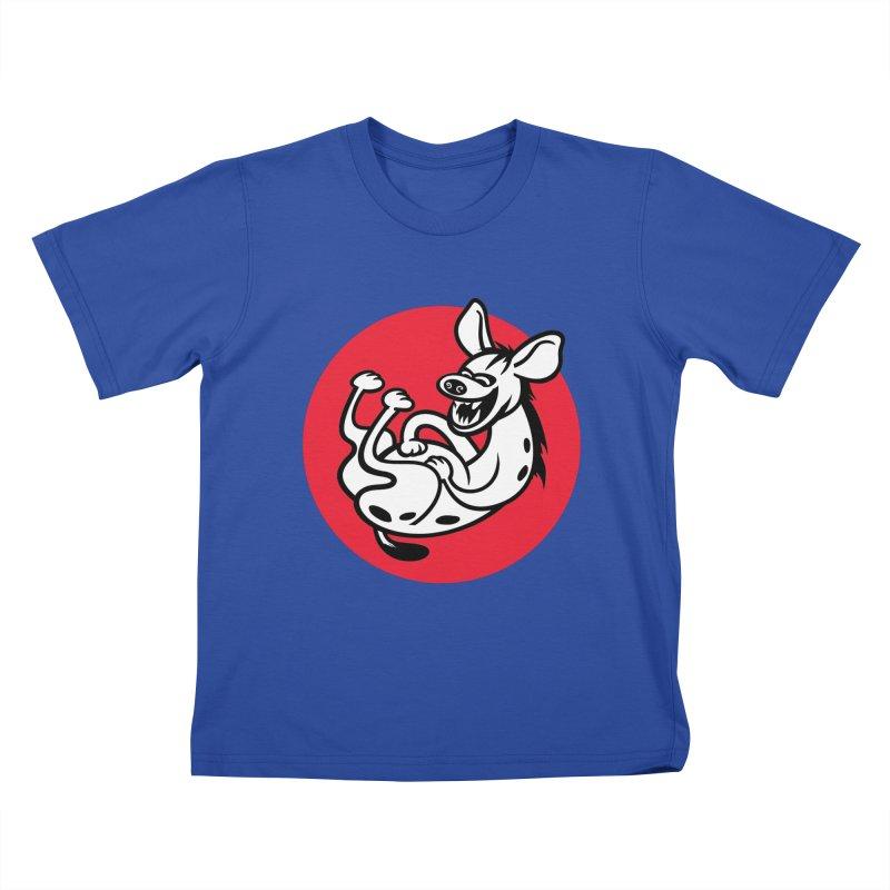 The Laughing Hyena Kids T-Shirt by Studio Drawgood