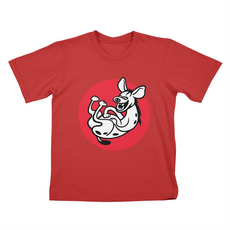 The Laughing Hyena Kids T-Shirt by drawgood's Shop