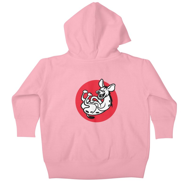The Laughing Hyena Kids Baby Zip-Up Hoody by drawgood's Shop