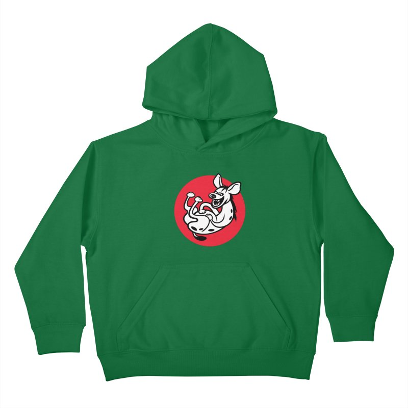 The Laughing Hyena Kids Pullover Hoody by Studio Drawgood