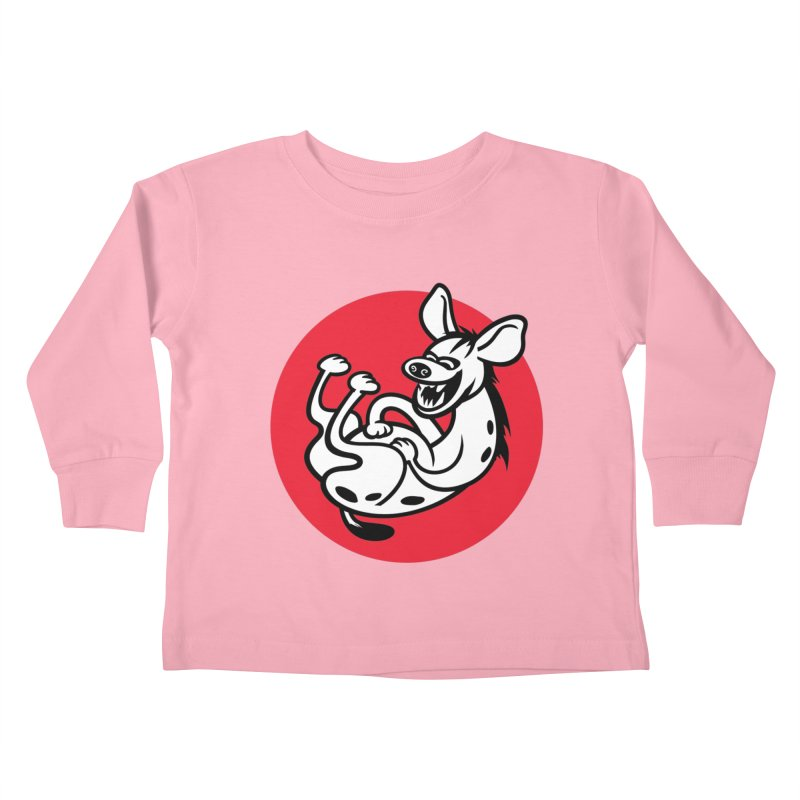 The Laughing Hyena Kids Toddler Longsleeve T-Shirt by drawgood's Shop