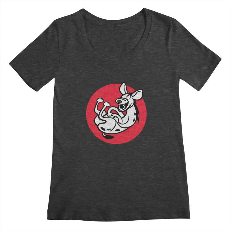 The Laughing Hyena Women's Scoopneck by drawgood's Shop