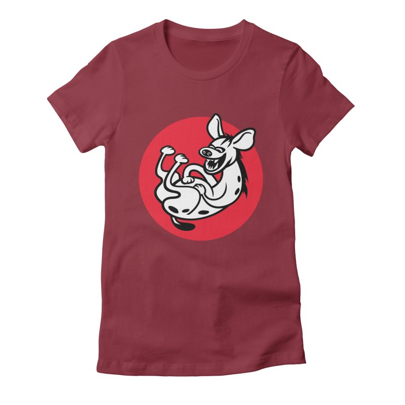 The Laughing Hyena Women's Fitted T-Shirt by drawgood's Shop