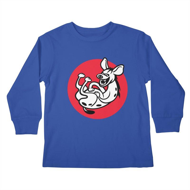 The Laughing Hyena Kids Longsleeve T-Shirt by Studio Drawgood
