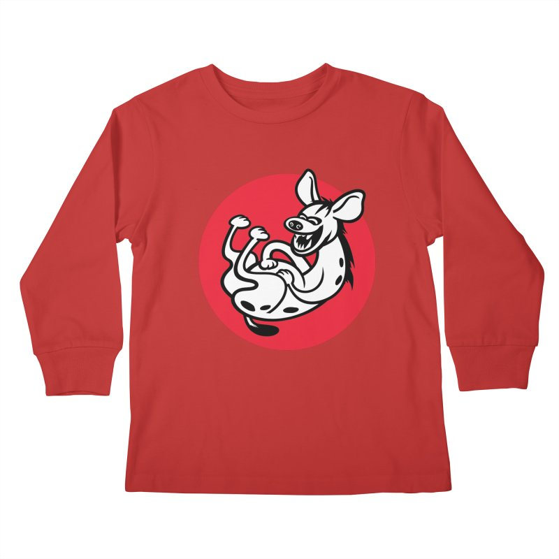 The Laughing Hyena Kids Longsleeve T-Shirt by drawgood's Shop