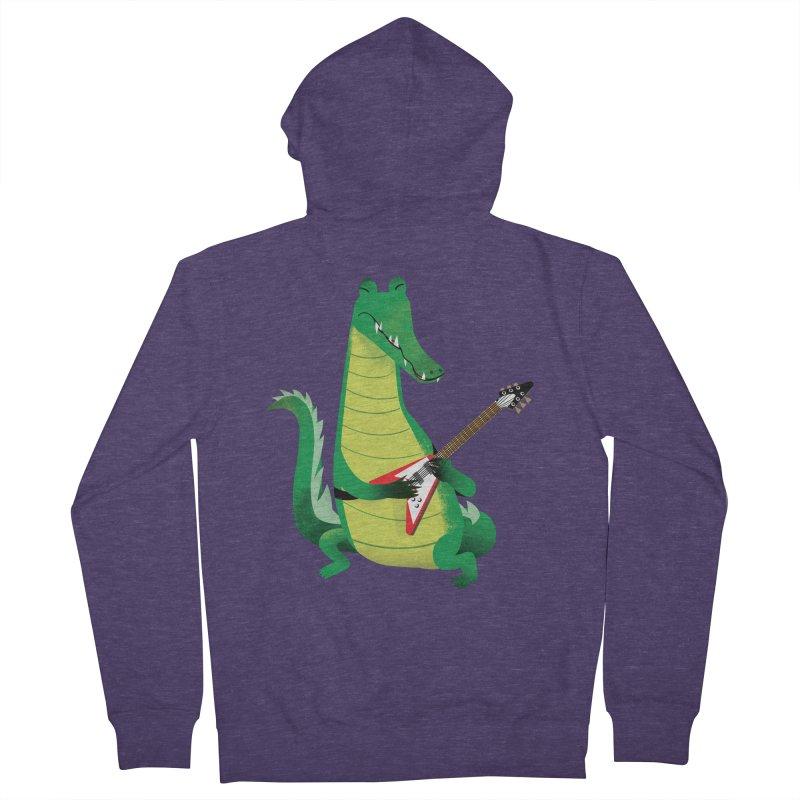 Crocodile Rock Men's Zip-Up Hoody by drawgood's Shop