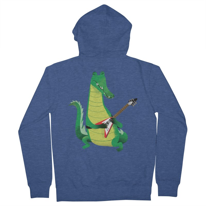 Crocodile Rock Men's Zip-Up Hoody by drawgood's Shop
