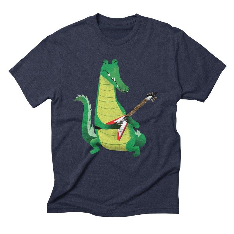 Crocodile Rock Men's Triblend T-shirt by drawgood's Shop