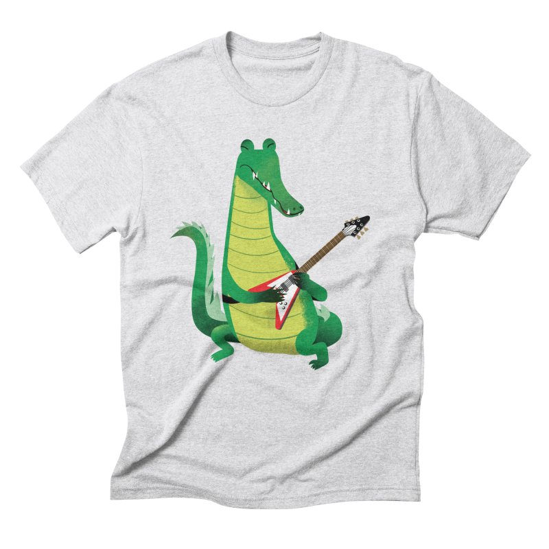 Crocodile Rock Men's Triblend T-Shirt by drawgood's Shop
