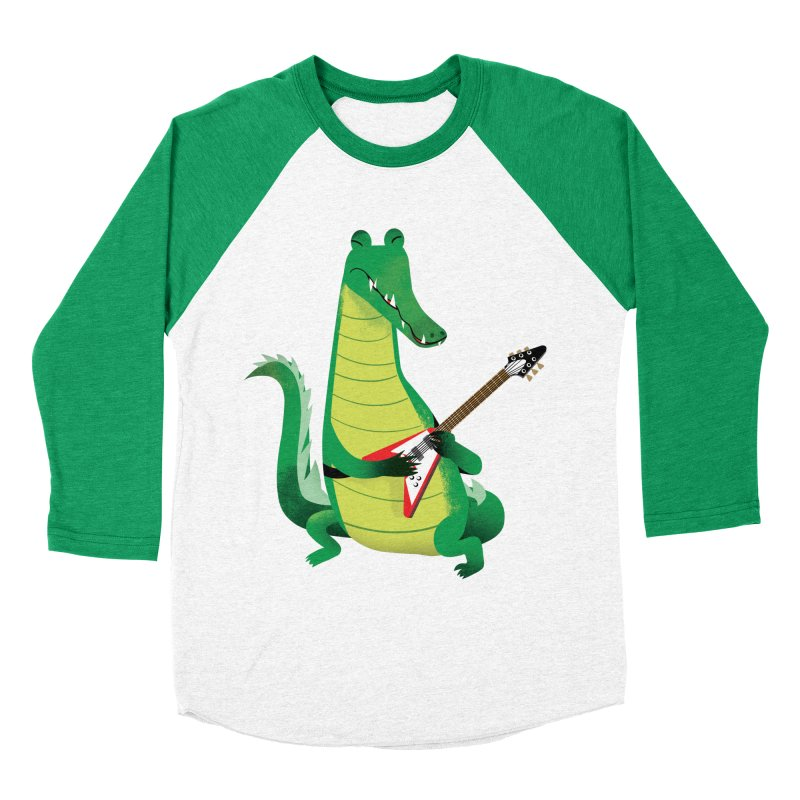 Crocodile Rock Women's Baseball Triblend T-Shirt by drawgood's Shop