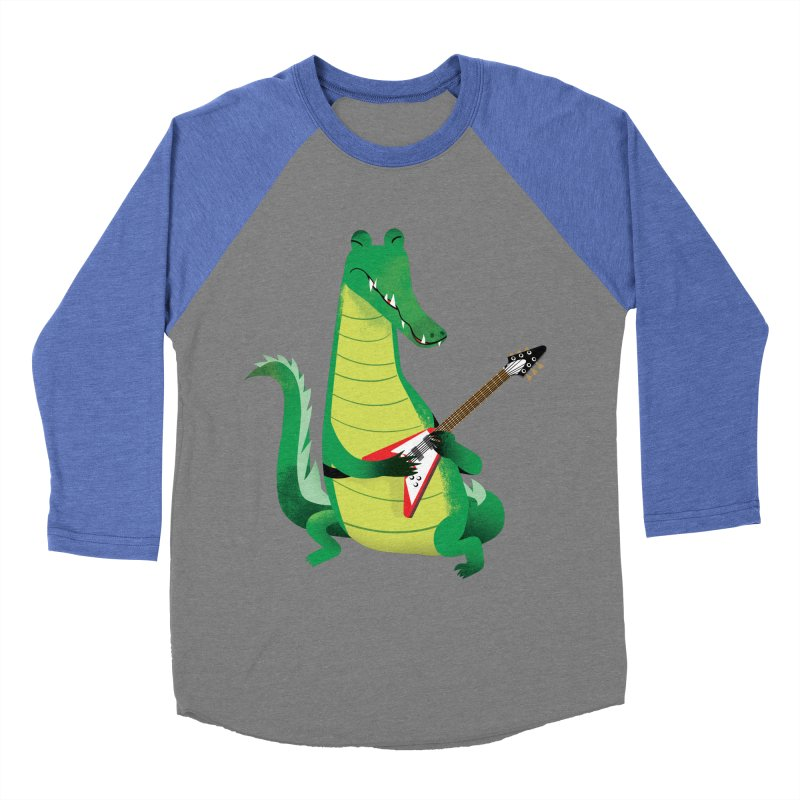 Crocodile Rock Men's Baseball Triblend T-Shirt by drawgood's Shop