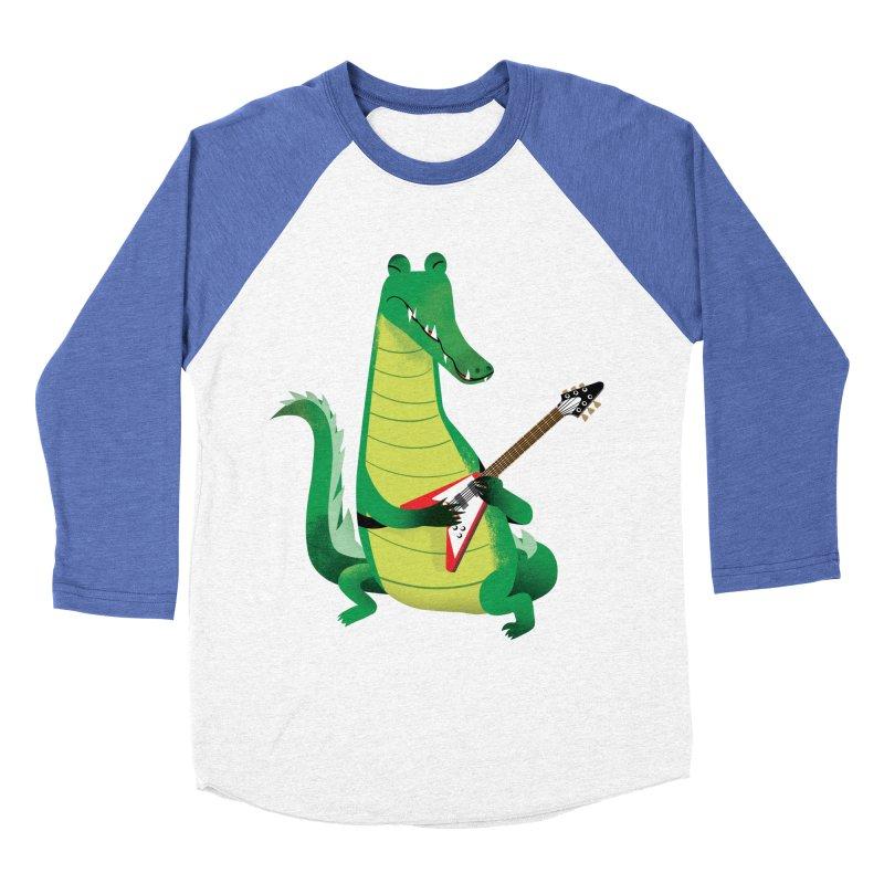 Crocodile Rock Men's Baseball Triblend T-Shirt by drawgood's Shop