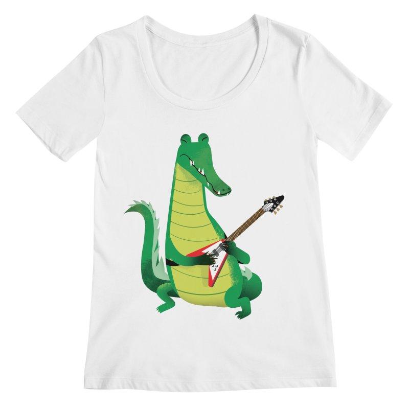 Crocodile Rock Women's Scoopneck by drawgood's Shop