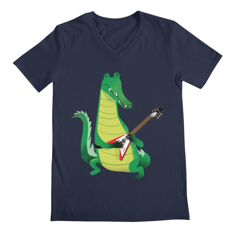 Crocodile Rock Men's V-Neck by drawgood's Shop