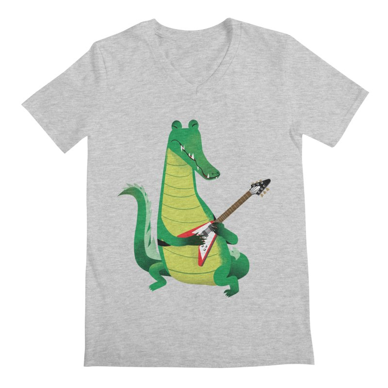 Crocodile Rock Men's V-Neck by drawgood's Shop