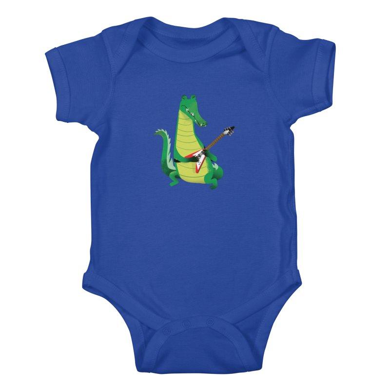 Crocodile Rock Kids Baby Bodysuit by drawgood's Shop