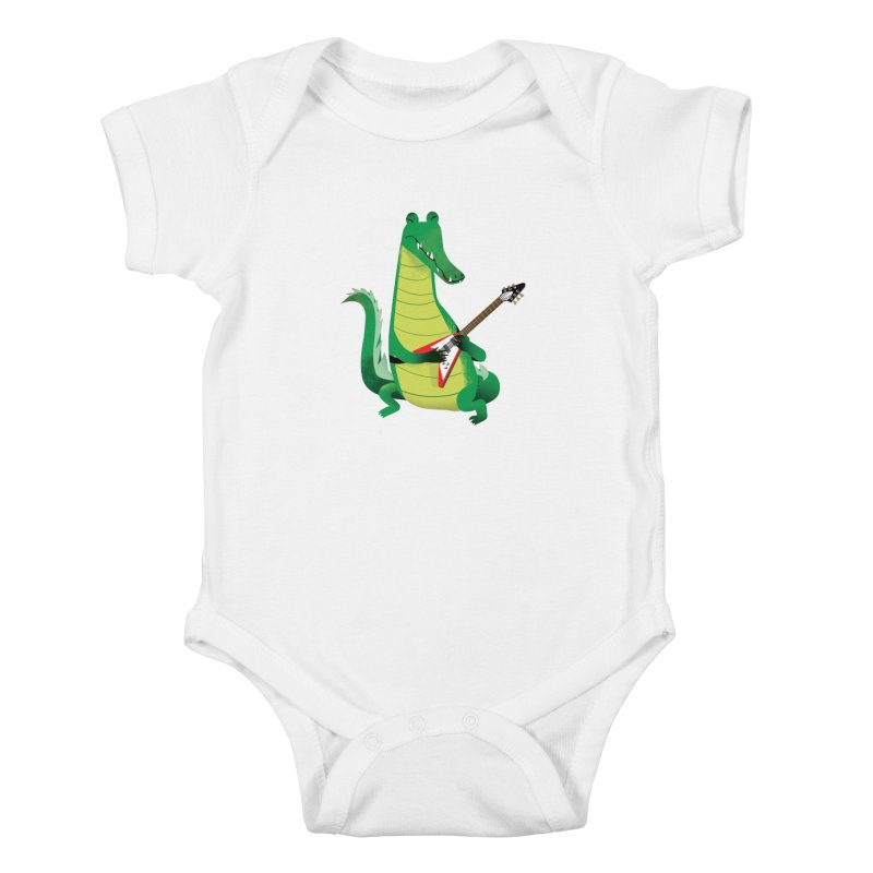 Crocodile Rock Kids Baby Bodysuit by drawgood's Shop