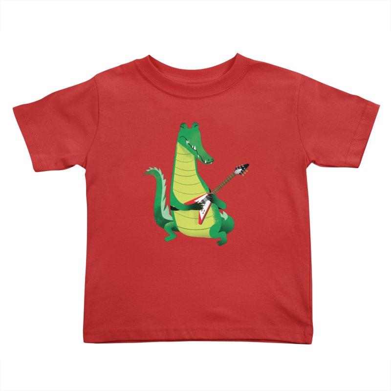 Crocodile Rock Kids Toddler T-Shirt by drawgood's Shop